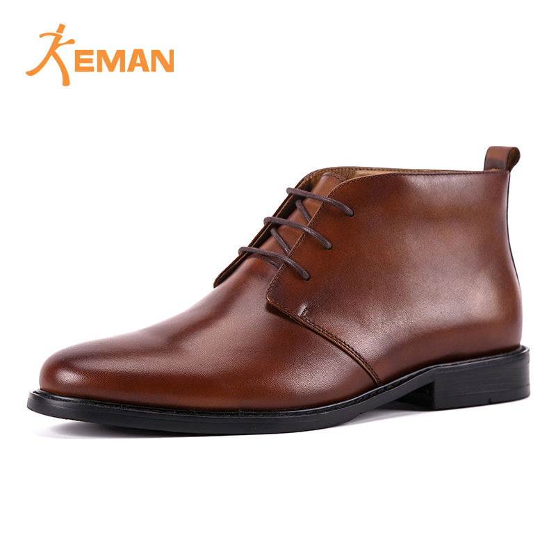 Hand Made Chukka Boot Mens Office Ankle Leather Winter Boots
