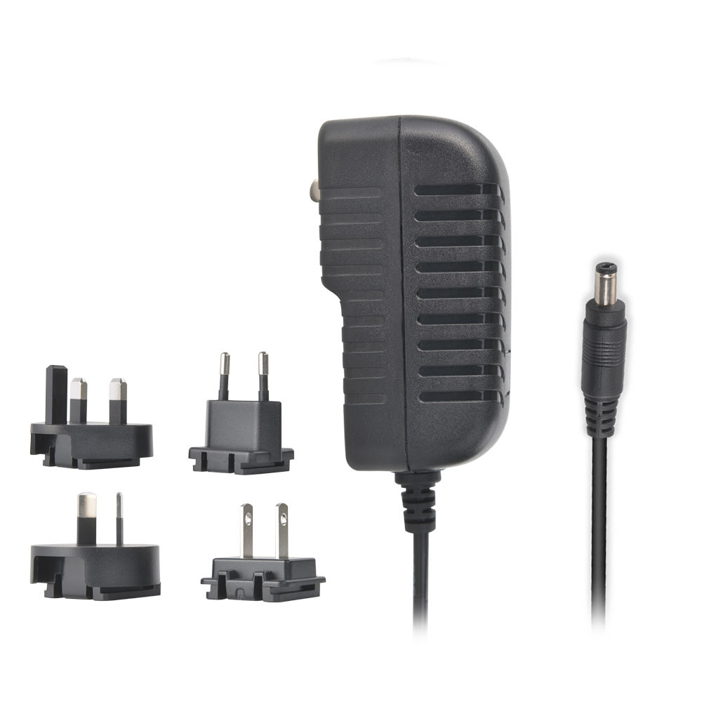 Interchageable 100-240v 50-60hz Dc Output Power 5v 6v 9v 9.6v 12v 14v 15v 16v 22v 24v 300ma 400ma 500ma 800ma 1.5a 2a Ac Adapter
