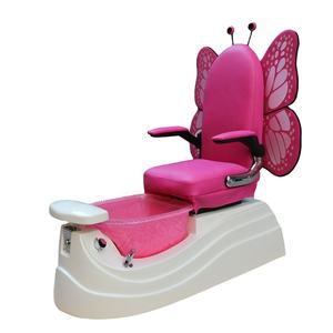Blue or pink princess pedicure chair with mini bowl easy to installation