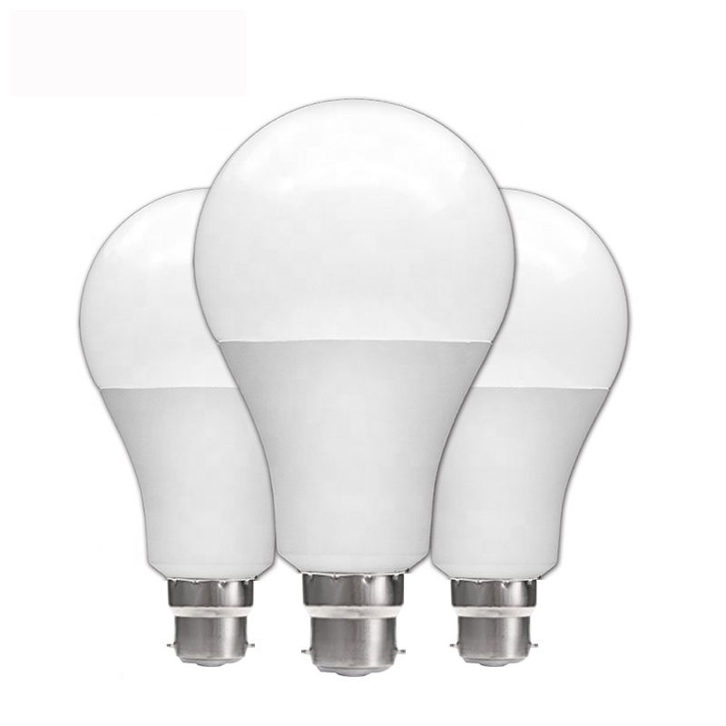 Manufacturer direct sales LED bulb plastic-clad aluminum energy-saving bulb indoor lighting E27 screw bulb B22