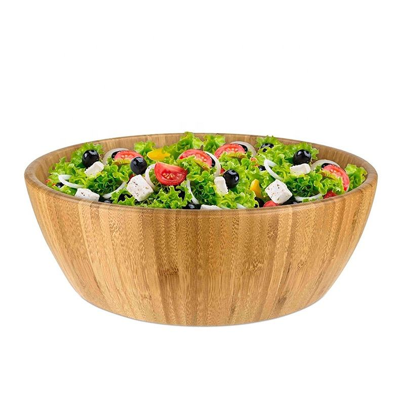 Bamboo Bowl for Salad, Ramen, Pho, Noodles, Rice, Miso, Pasta, Premium Natural Sustainable Reusable Wooden Bowls, Friendly Gifts