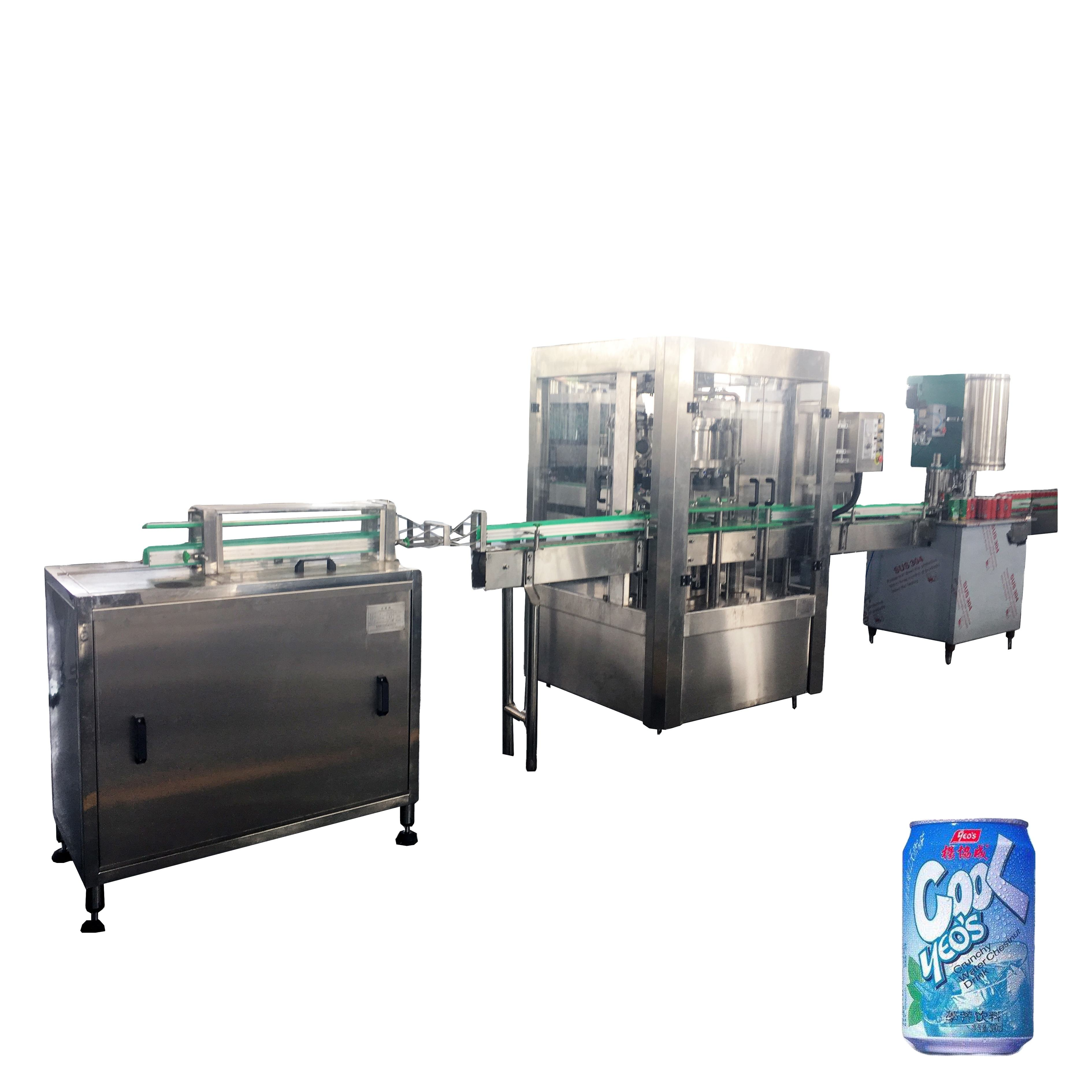 330ml can beer filling sealing machine / aluminum can soda water canning plant / beverage making equipment