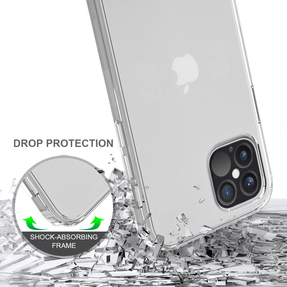 Free Samples Wholesale Acrylic Mobile Phone Case For iPhone 12 Pro 6.1 TPU PC Case