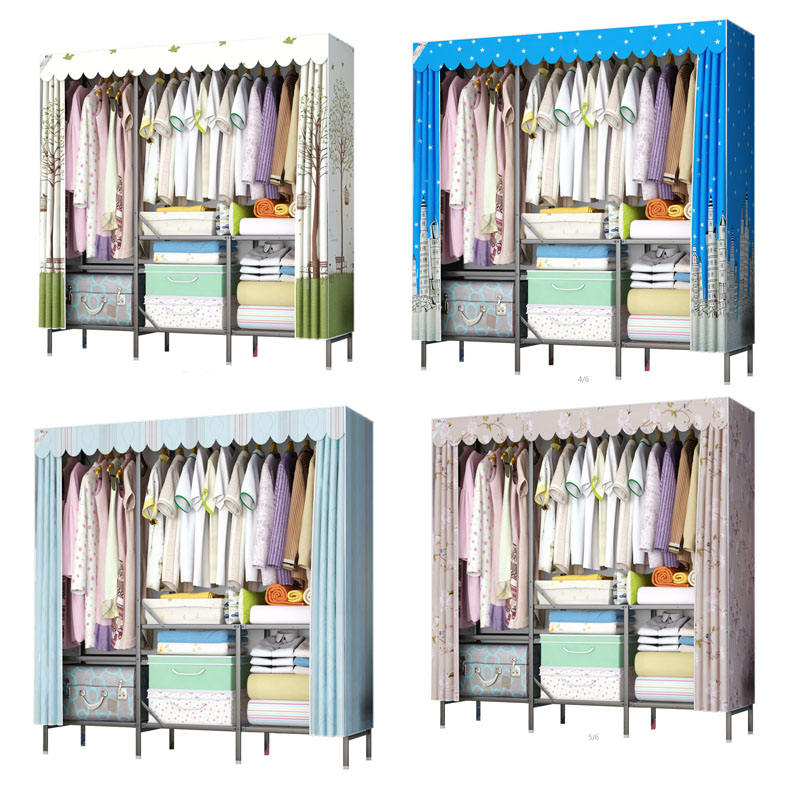 Easy Assemble Price Wardrobe Wooden Baby Cabinet Children Small Kindergarten with Factory