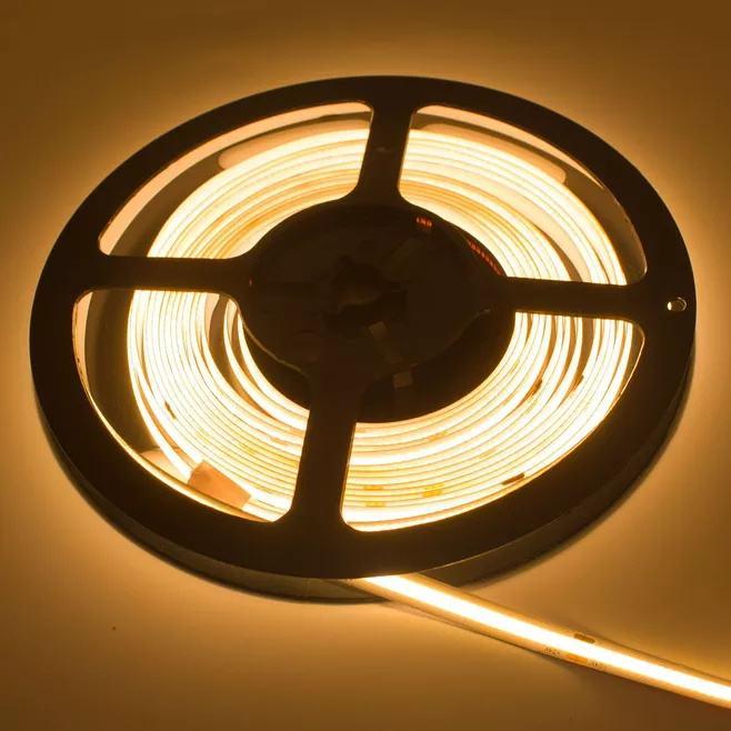 كوتابل مرنة كوب مصباح ليد قطاع 5 متر DC24V الدافئة الباردة الأبيض دوت-دليل مجاني 10 مللي متر بقيادة قطاع