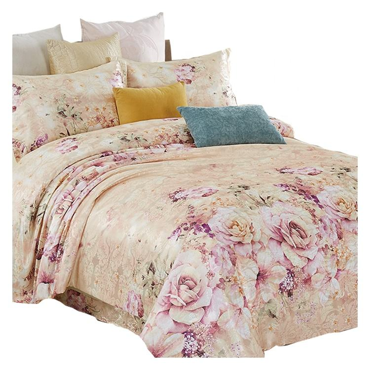 hot sales polyester satin jacquard bed cover set bed in a bag sets bedding wholesale
