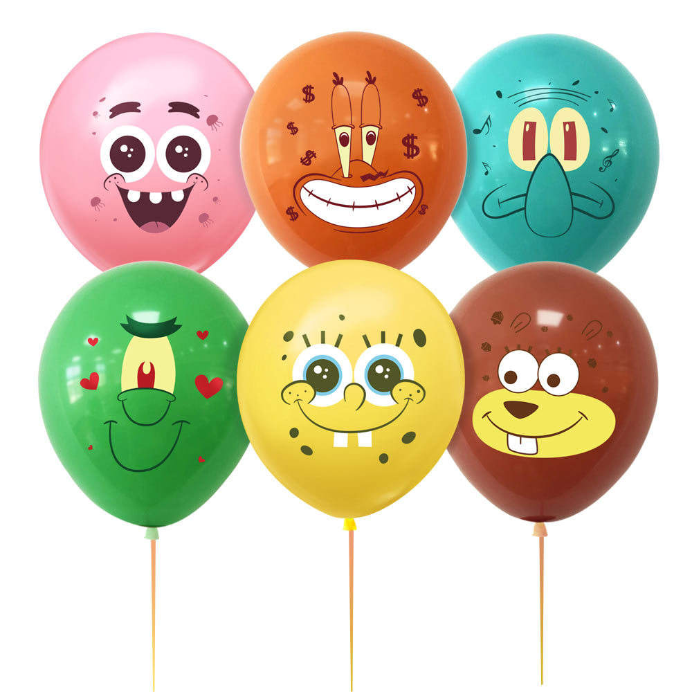 Cartoon Druck Latex Ballon Kawaii Cartoon <span class=keywords><strong>Thema</strong></span> 12 Zoll Geburtstags feier Ballon Dekoration