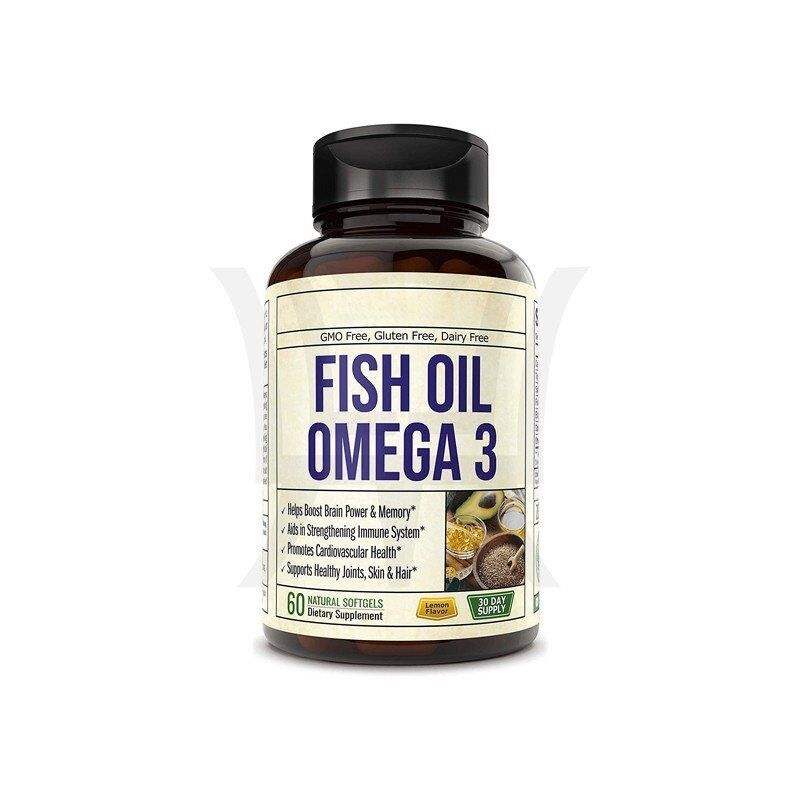 Fish Oil Omega 3 Supplement Helps Boost Brain Power Memory Focus Cognition Promotes Cardiovascular and Immune Health