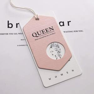 High Quality Customized Clothing Folded Hand Tag Paper Name Tag