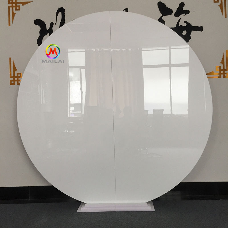 High Quality White Round PVC Iron Plinth & Backdrop Wedding Display Stand