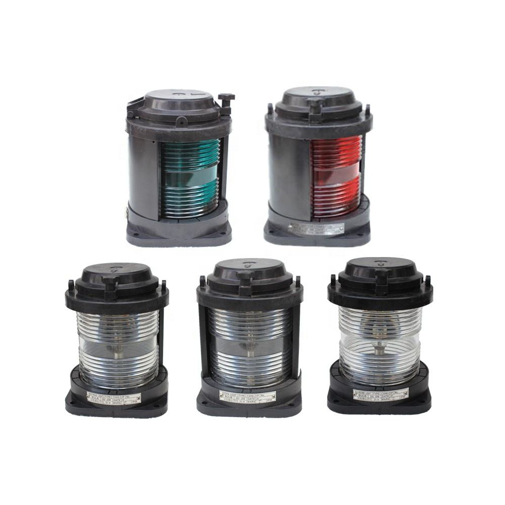 Waterproof Plastic 24V 25W Bay15d SIngle Tier Marine Navigation Signal Light CXH-21P