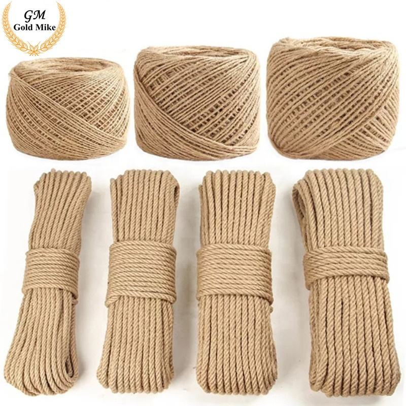 Jute Rope 8mm Jute Rope Twisting Jute Yarn Rope