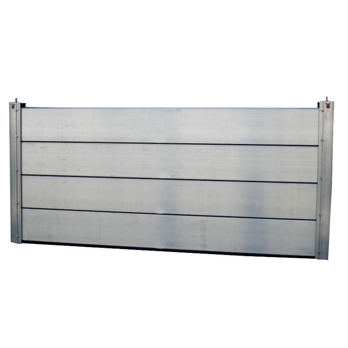 Watertight aluminum removable flood barriers for Warehouses