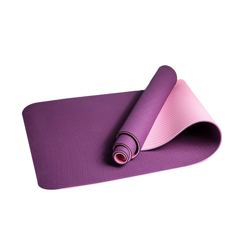 Eco-friendly [ Yoga Mat Tpe ] Tpe 2 Layer Natural Eco-Friendly Yoga Mat TPE Material Yoga Mat