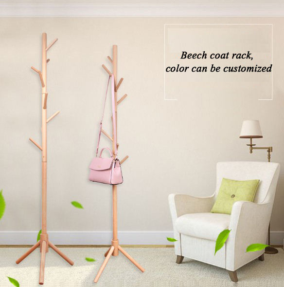 High Grade Wooden Tree Standing Coat Rack