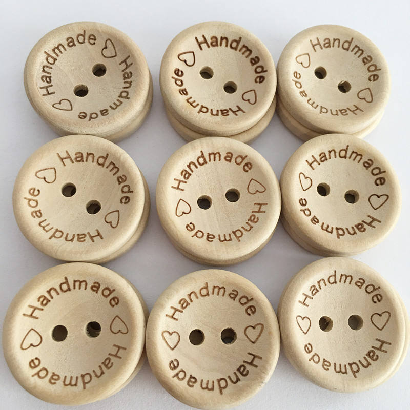 100ピース/ロットWooden Buttons Clothing Decoration Wedding Decor Handmade Letter Love DIY Crafts Scrapbooking For Sewing Accessories