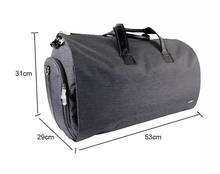 Carry-on Garment Bag Men's Suit Travel Duffel Bag Custom Small Rolling Garment Bag With Shoes Compartment