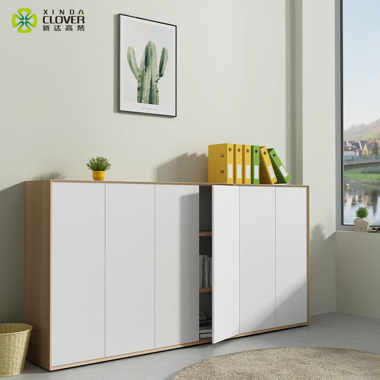 Home Office High Quality Combination Swing Door Storage Wooden Filing Cabinet