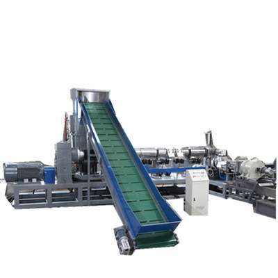 Plastic PP Raffia PE Film Recycling And Pelletizing Granulating Machine With Compactor