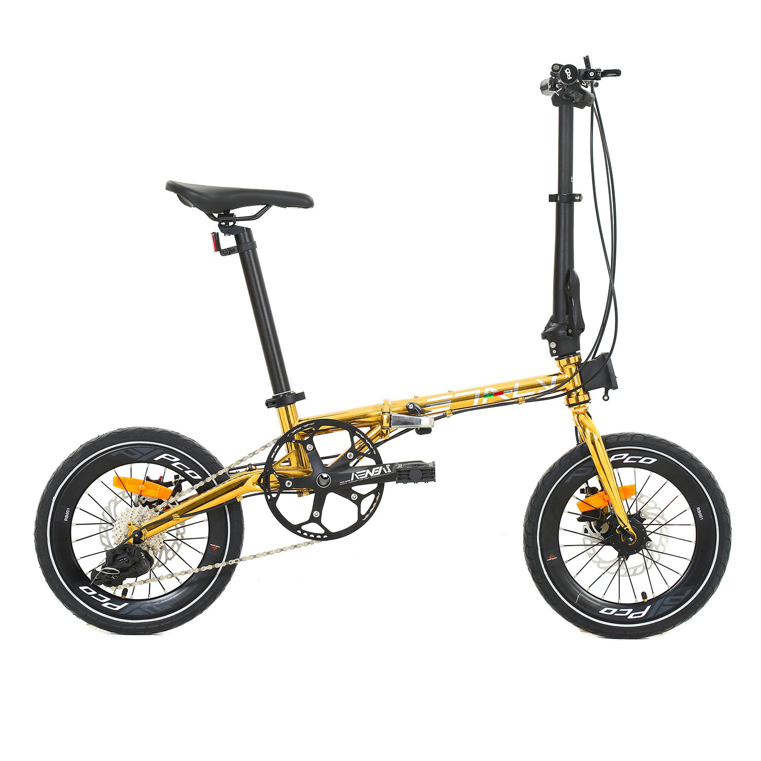 10 Speed Folding Bike 16 Inch Disc Brake bicycle 4130 steel Portable Male and Female Adult Student 406 folding Bicycle