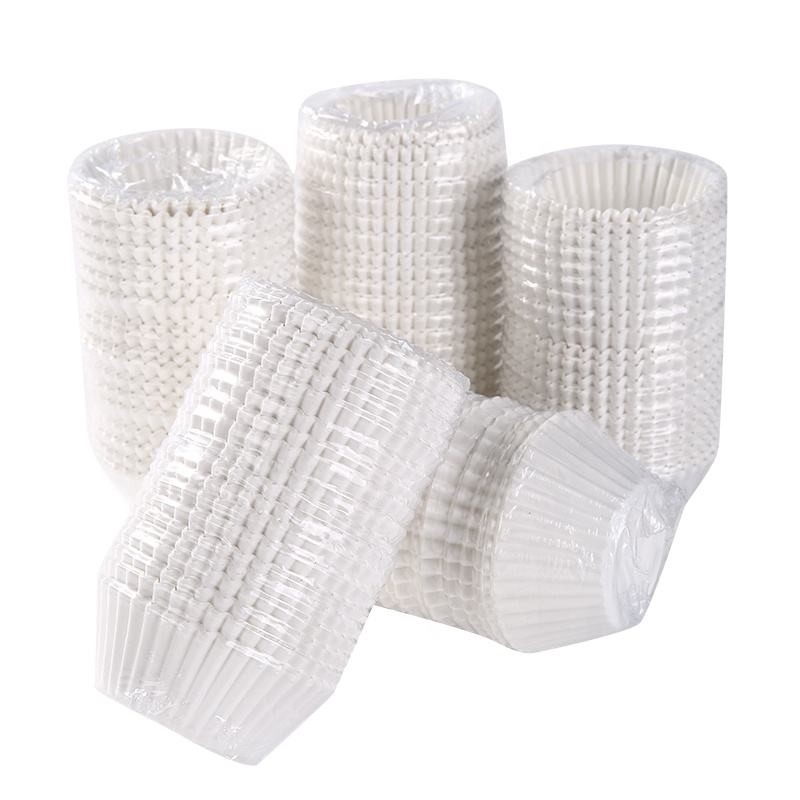 500pcs white plain cupcake liners Amazon hot selling paper baking cups factory wholesale cheap price