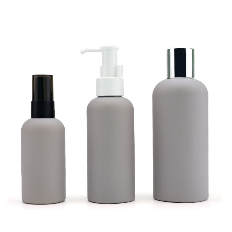 HDPE cosmetic container 100ml 150ml 200ml plastic body milk lotion skincare bottle set