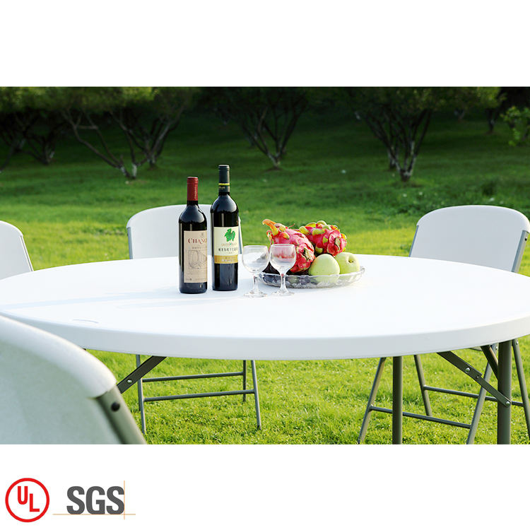 Latest 6FT Plastic Round Banquet Foldable Dinning Picnic Camping Table