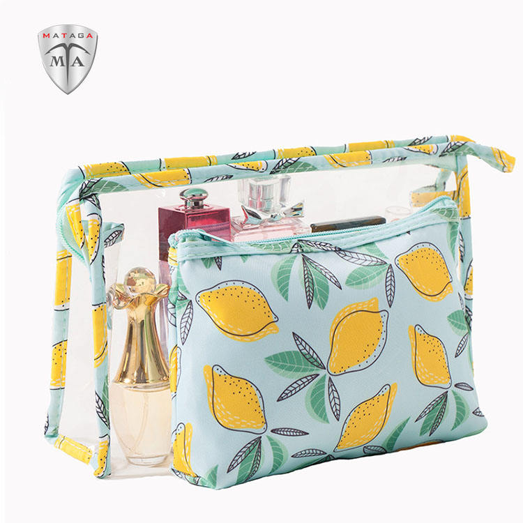 MTA PVC Portable Transparent Waterproof Cosmetic Bags