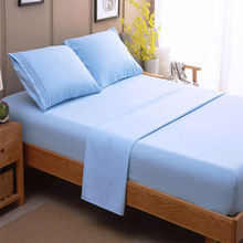 Wholesale Bedding Set 200TC Queen Size 100% Cotton Hotel Fitted Bed Sheets