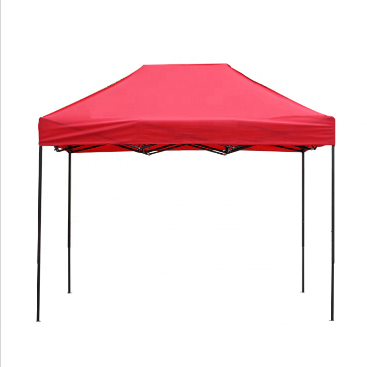 Outdoor Waterproof Canvas Roof Portable Pop-up Shop Tent 2x3 Retractable Folding Tent