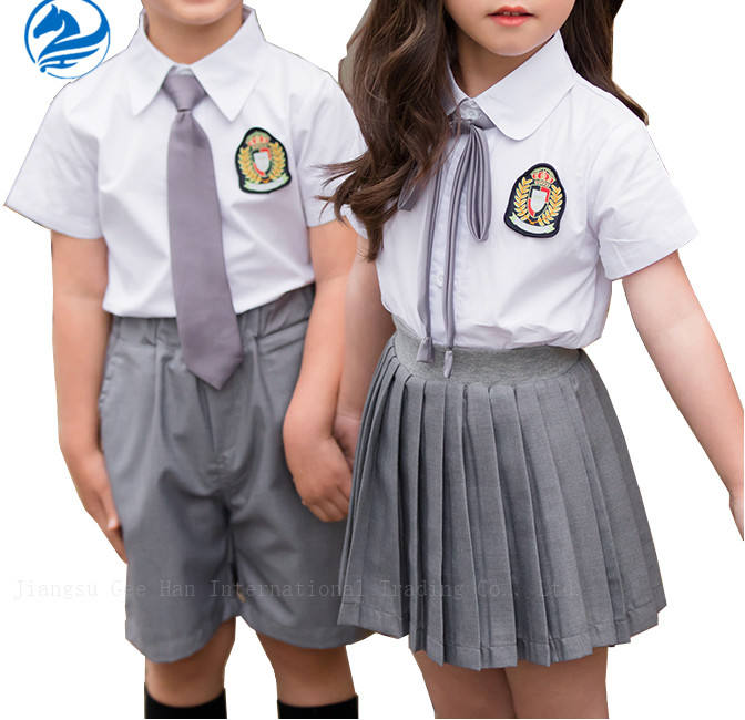 Japanese primary shorts skirts high short sleeve school uniforms style for kids boys and baby girls designs with pictures