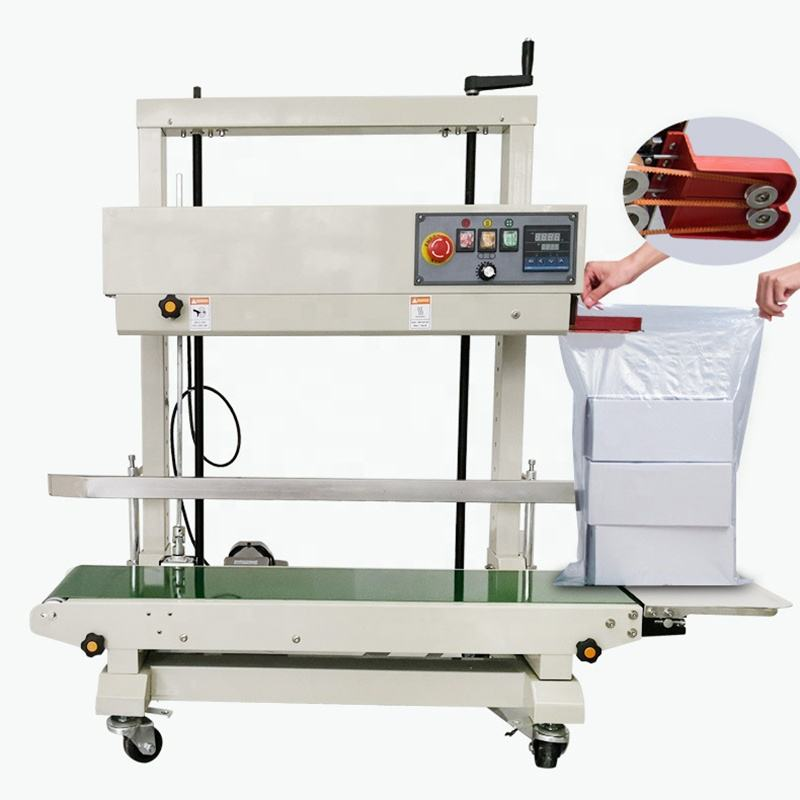 sell market welcome customer love Hot Vertical Continuous Band Sealer band sealing machine