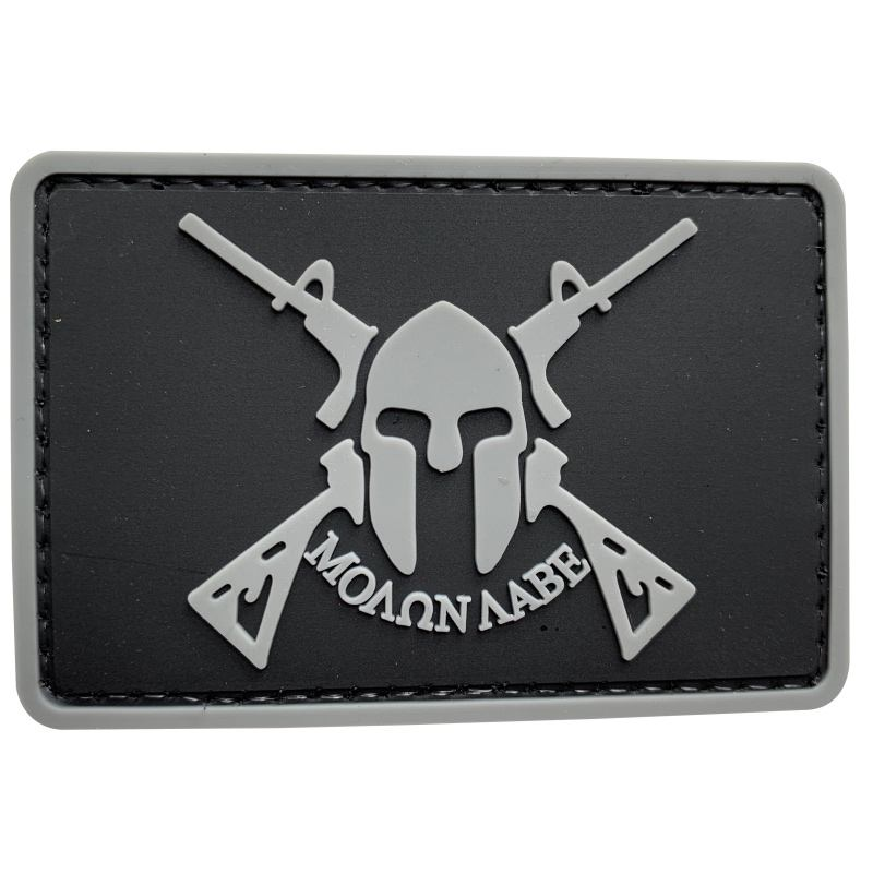 Cinza ACU Espartano Molon Rótulo EUA Tactical PVC 3D Borracha Velcro Patch