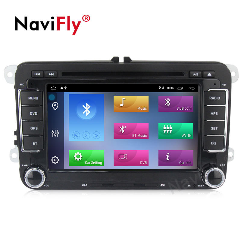 Navifly 7 Inch Android 10 Quad Core 2G RAM+32G Car DVD Player Car Video Audio for VW POLO PASSAT Skoda Golf TOURAN SHARAN Seat