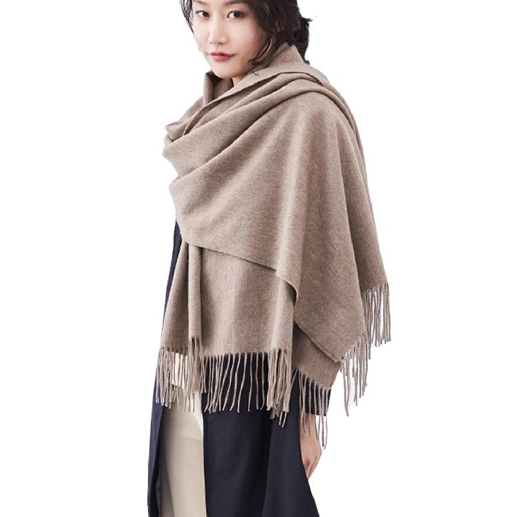wholesale custom luxury thick poncho shawl knitted pashmina blanket winter plain scarves ladies 100 cashmere wool scarfs women