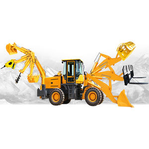 China Chinese Small Wheel Mini 4x4 Tractor Excavator Digger Backhoe Loader for Sale