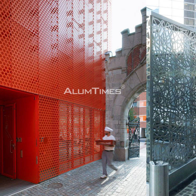 3d metal panel aluminum carved solid panel cladding system aluminium perforated facade