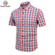 Popular Color Weave Thin Section Plaid Shirt High Quality Cotton Short Sleeve Plaid Shirt Casual Cotton Shirt For Men