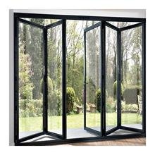 Modern Design Industrial Steel Glass Doors Metal Frames Windows Grill Iron Folding Door Design for home sale