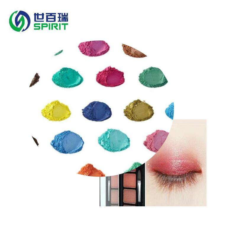 High temperature resistance ability pearlescent pigments for nail polish or hair cream