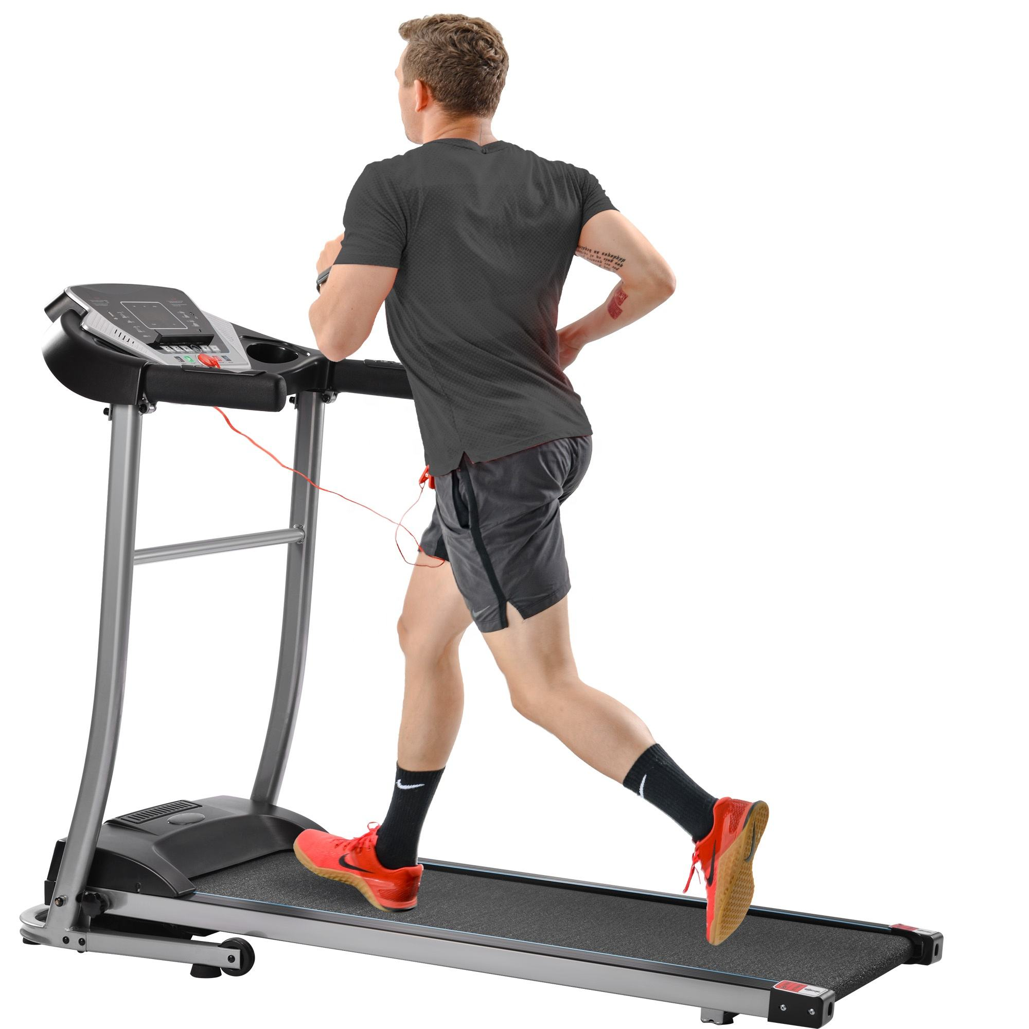 Electric Folding Treadmill Motorized Running and Jogging Fitness Machine for Home Gym with 12 Preset Programs