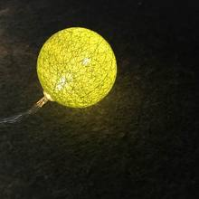 Hot sale LED Cotton fairy lights battery Mini Ball For Christmas Indoor bulb string lights led