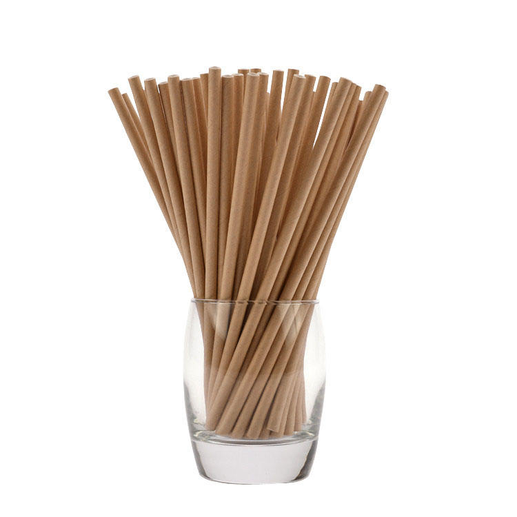 Pure kraft food grade original factory reusable natural eco-friendly full color drinking striped paper straws
