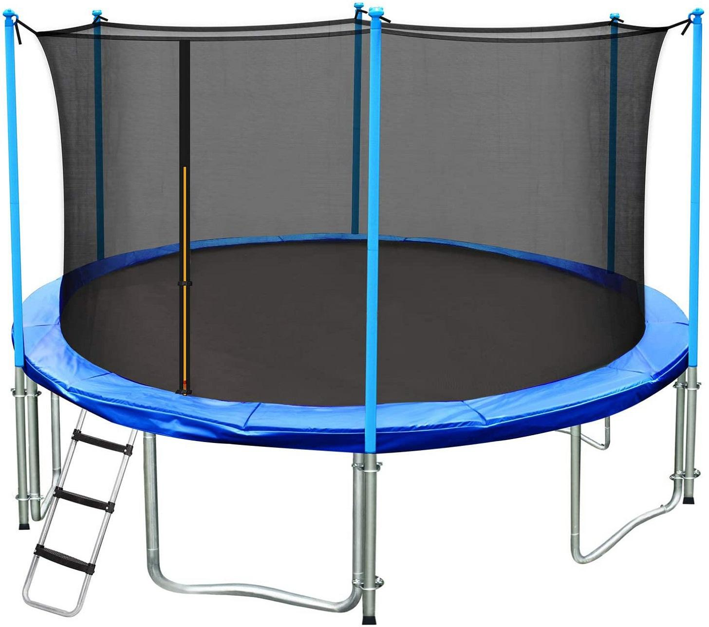 Custom size adult kids trampoline with safety net outdoor