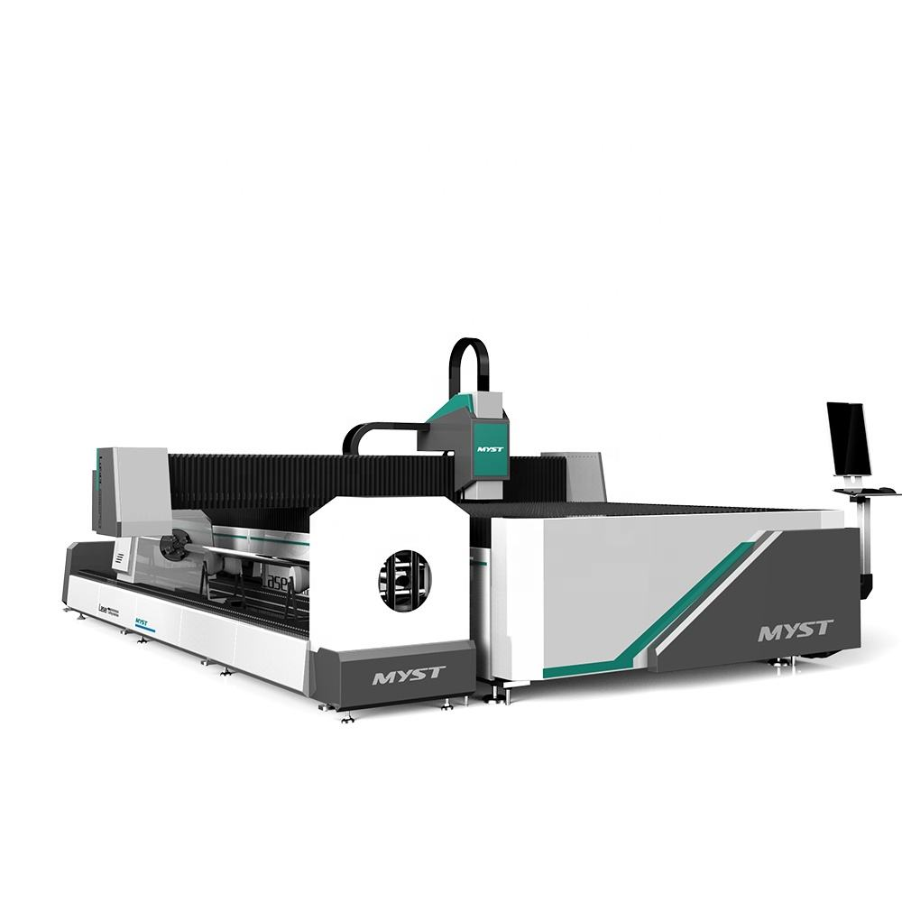5% Discount industrial heavy duty rotary and plate fiber laser cutting machine
