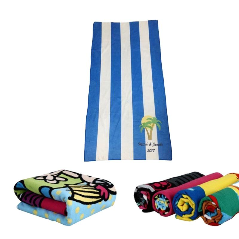 80x160cm 70x140cm beach Promotion custom printed microfiber towel