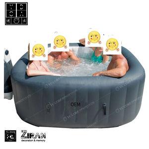 Bubble Draagbare 4 Persoon Spa Zwembad Lui Opblaasbare Spa Hot Tub Maken Bubble Spa Massage Warmtepomp Hot Tub