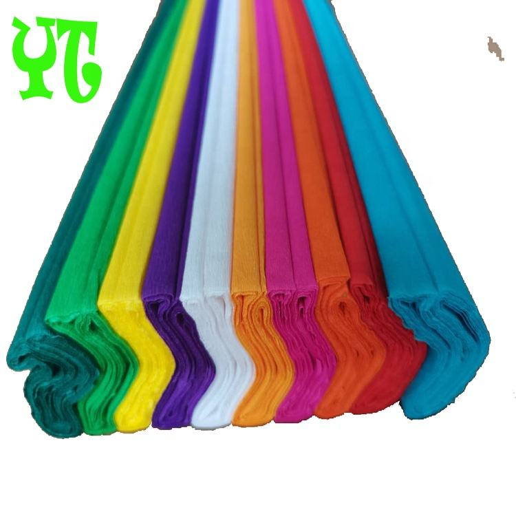 Factory directly supply 50*180 200 250CM interesting creative handmade art Crepe paper for kids DIY