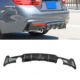 Bmw 4 Carbon Fiber Dual Exhaust Tips Rear Bumper Diffuser MP Style For BMW 4 Series F32 F33 F36 2014-2019