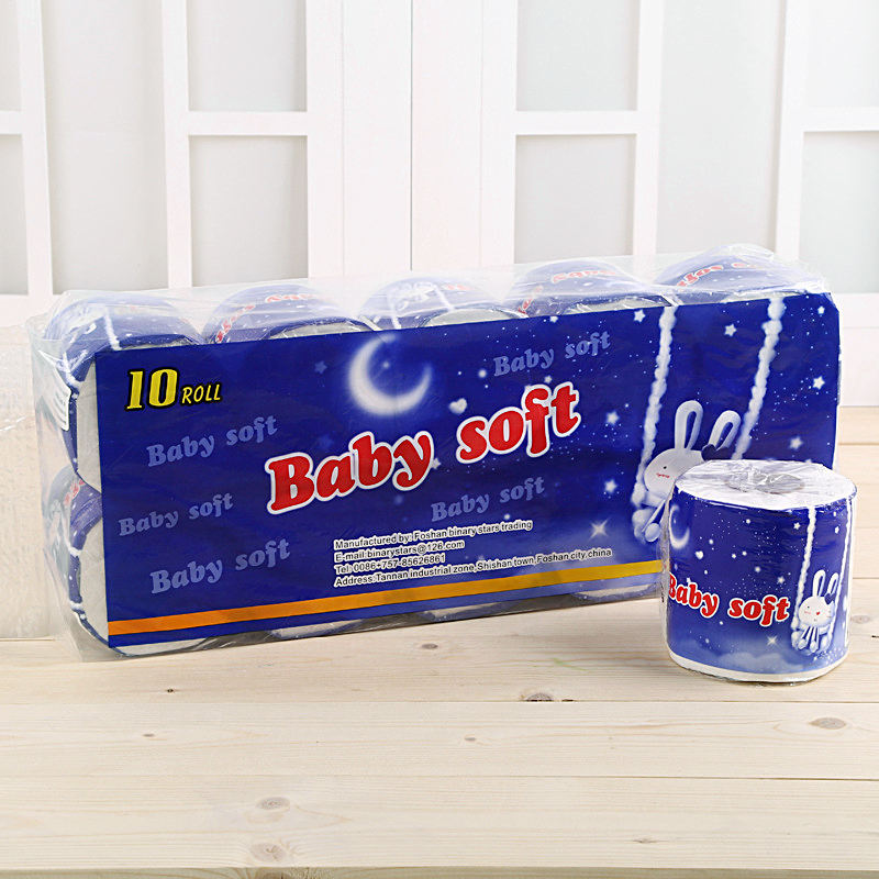 Arrived in 3-5 Days Bamboo Toilet 3 Ply Tissue Paper Roll Packaging Bags